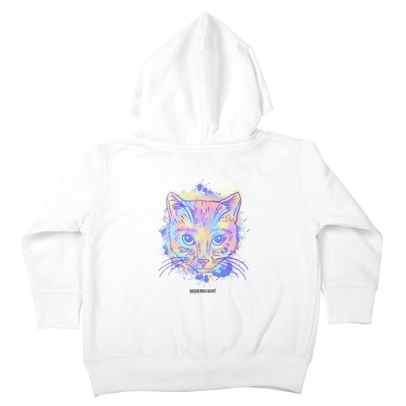 Groovy Cat Kids Toddler Zip-Up Hoody by Austin Pets Alive's Artist Shop