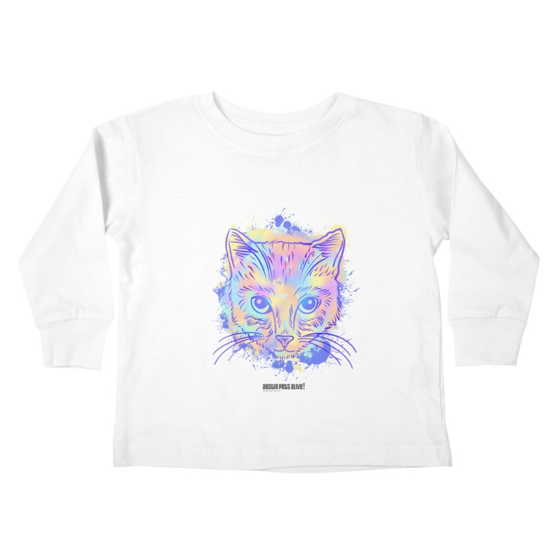 Groovy Cat Kids Toddler Longsleeve T-Shirt by Austin Pets Alive's Artist Shop