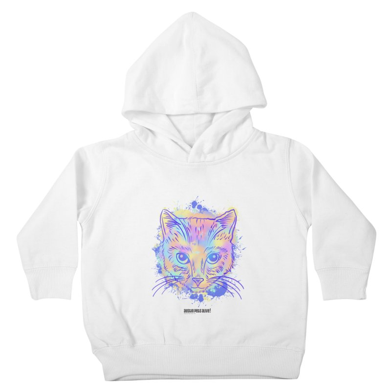Groovy Cat Kids Toddler Pullover Hoody by Austin Pets Alive's Artist Shop