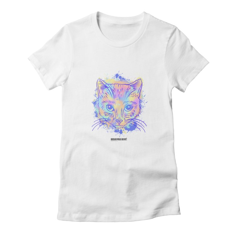 Groovy Cat Women's T-Shirt by Austin Pets Alive's Artist Shop