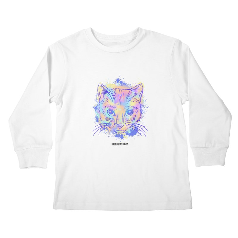 Groovy Cat Kids Longsleeve T-Shirt by Austin Pets Alive's Artist Shop