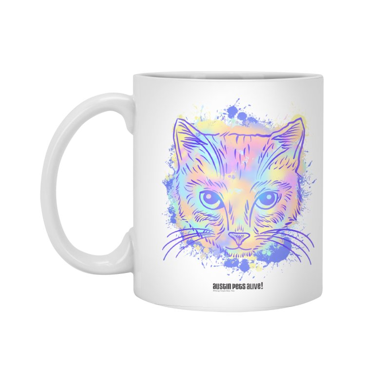 Groovy Cat Accessories Standard Mug by Austin Pets Alive's Artist Shop