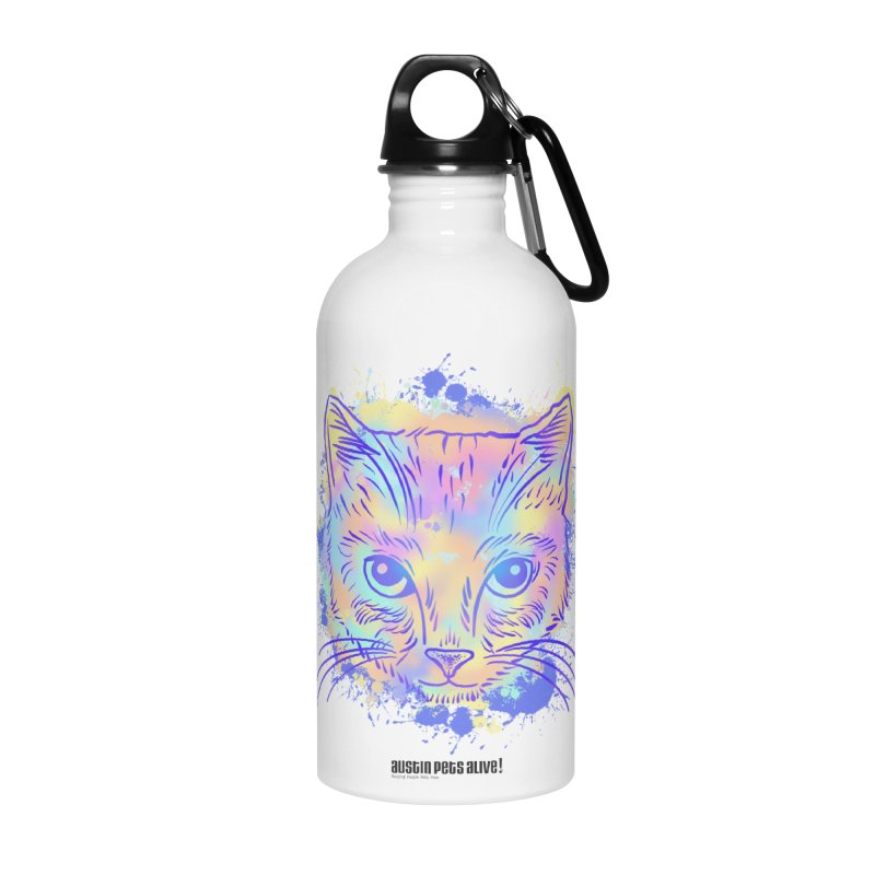 Groovy Cat Accessories Water Bottle by Austin Pets Alive's Artist Shop
