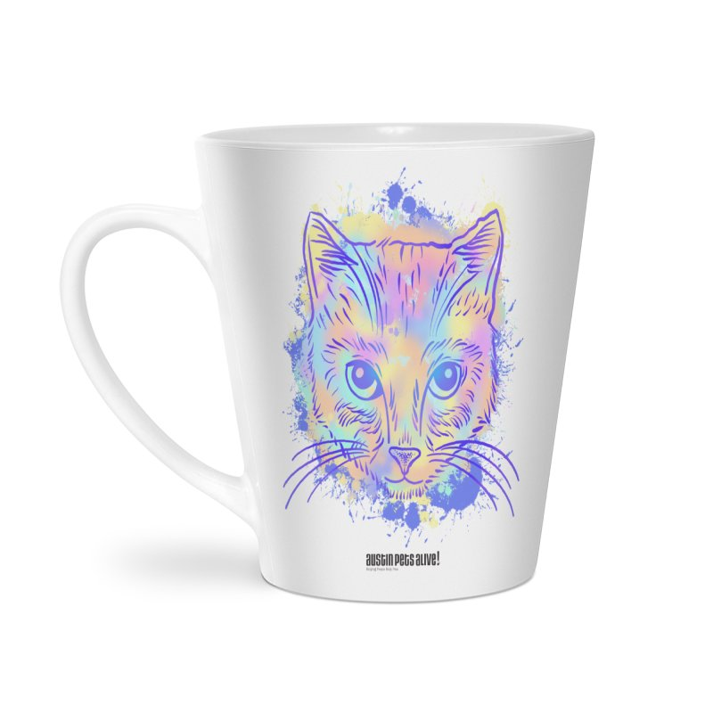 Groovy Cat Accessories Latte Mug by Austin Pets Alive's Artist Shop
