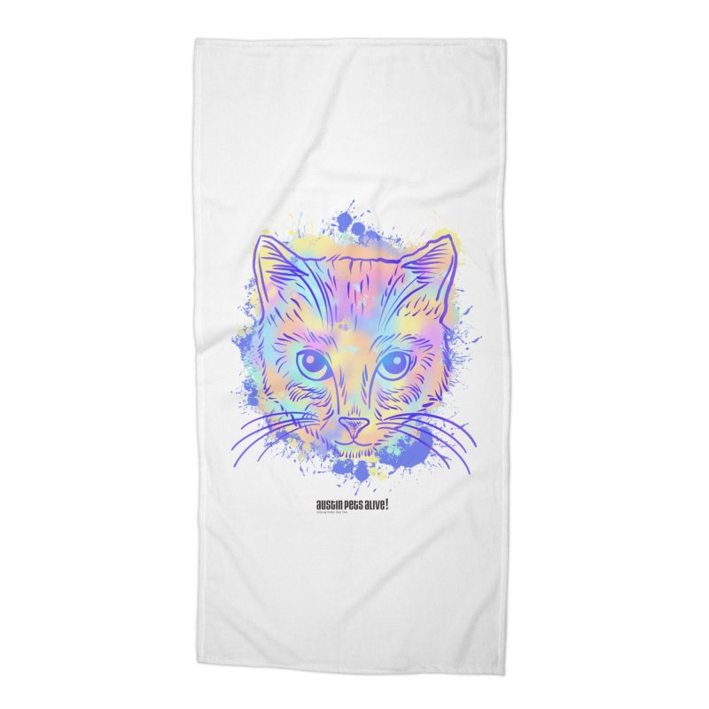 Groovy Cat Accessories Beach Towel by Austin Pets Alive's Artist Shop