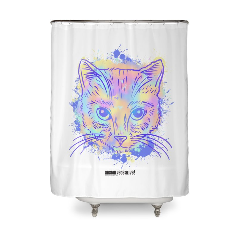 Groovy Cat Home Shower Curtain by Austin Pets Alive's Artist Shop