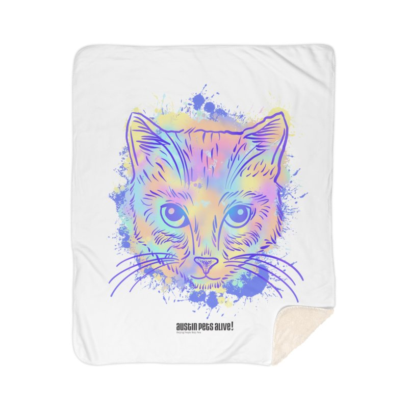 Groovy Cat Home Blanket by Austin Pets Alive's Artist Shop