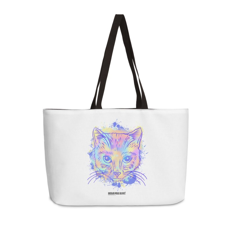 Groovy Cat Accessories Weekender Bag Bag by Austin Pets Alive's Artist Shop