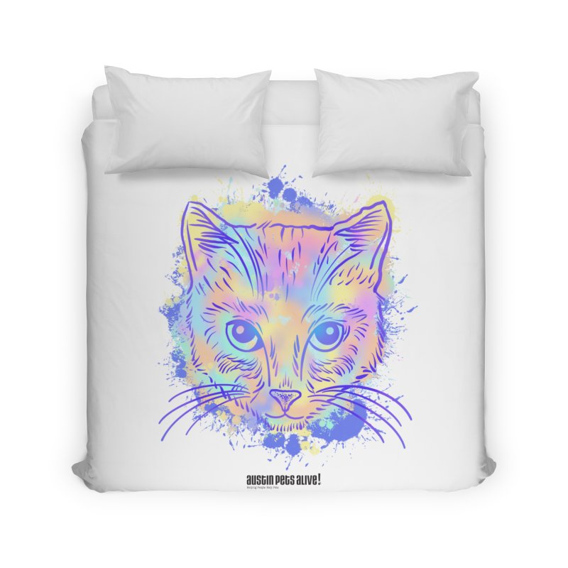 Groovy Cat Home Duvet by Austin Pets Alive's Artist Shop