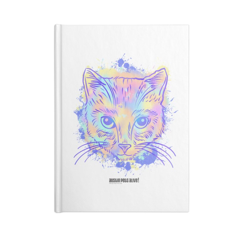 Groovy Cat Accessories Lined Journal Notebook by Austin Pets Alive's Artist Shop