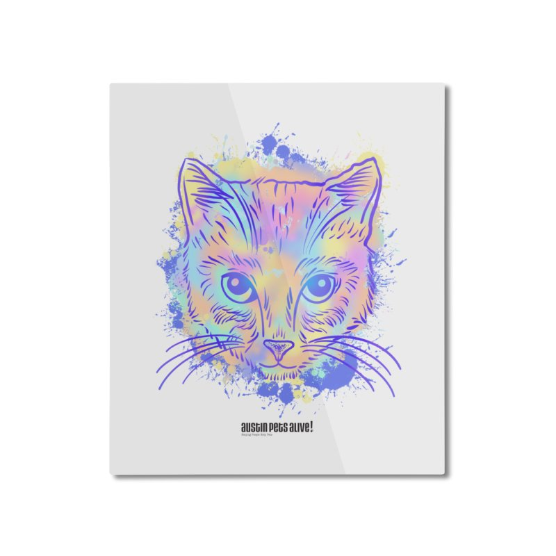 Groovy Cat Home Mounted Aluminum Print by Austin Pets Alive's Artist Shop