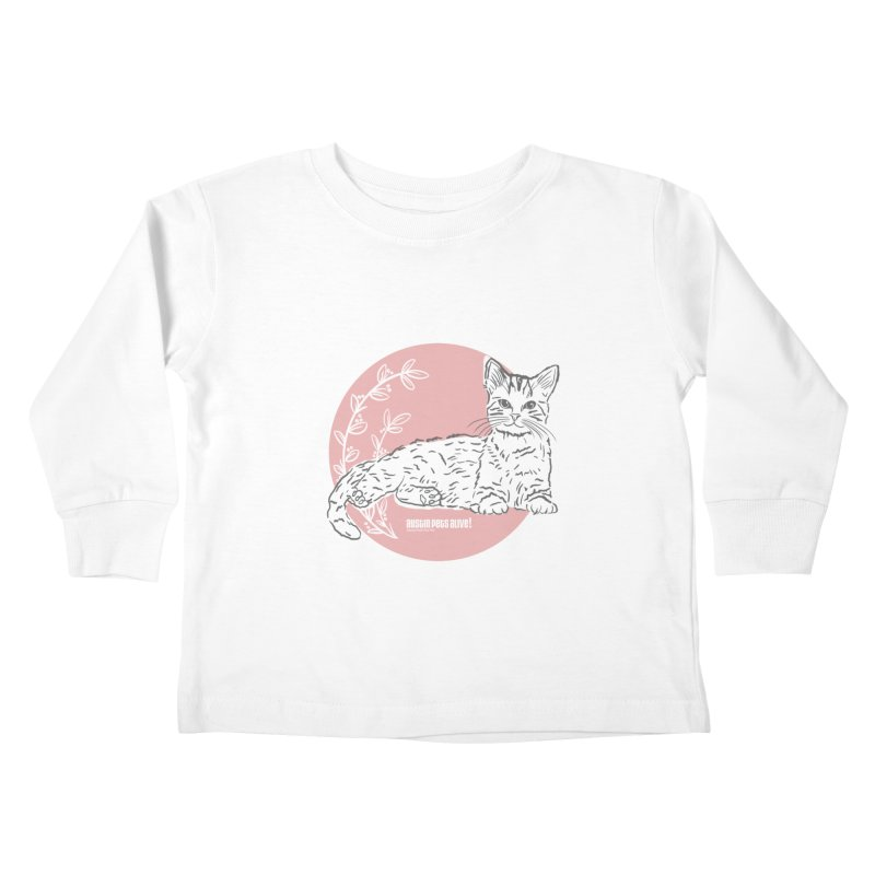 Pretty in Pink Kids Toddler Longsleeve T-Shirt by Austin Pets Alive's Artist Shop