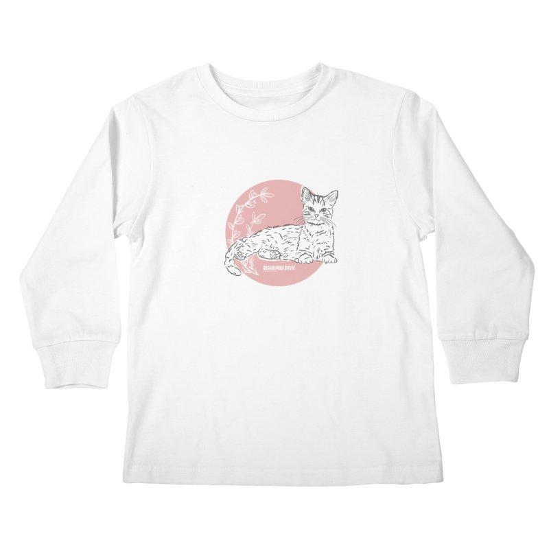 Pretty in Pink Kids Longsleeve T-Shirt by Austin Pets Alive's Artist Shop
