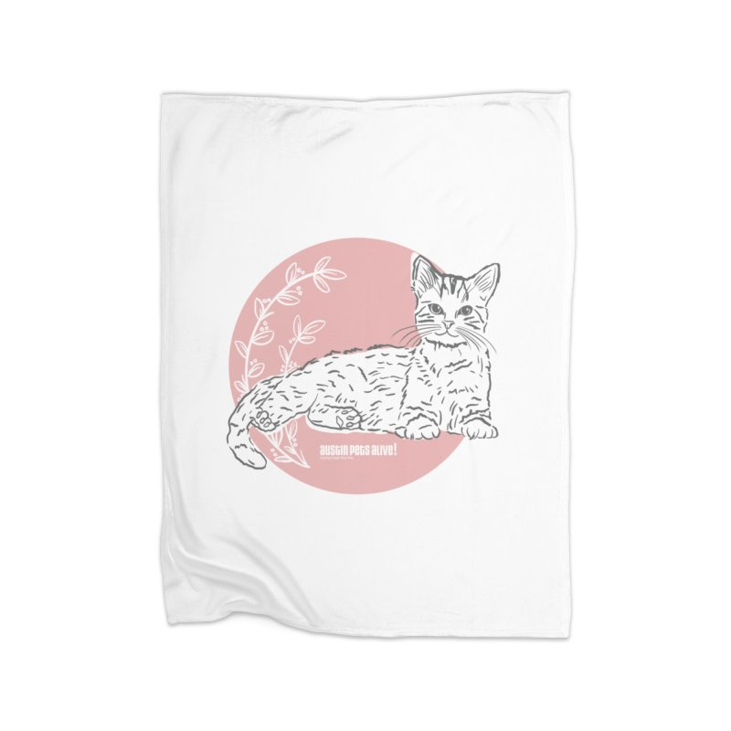 Pretty in Pink Home Blanket by Austin Pets Alive's Artist Shop