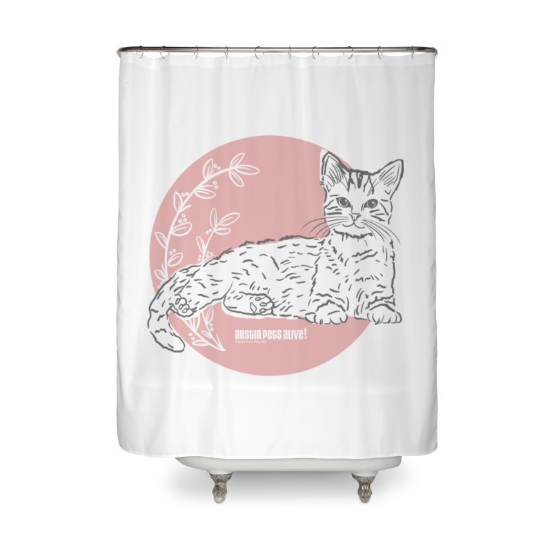 Pretty in Pink Home Shower Curtain by Austin Pets Alive's Artist Shop