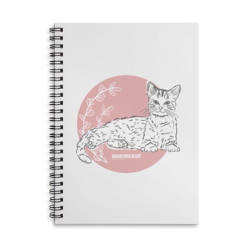 Pretty in Pink Accessories Lined Spiral Notebook by Austin Pets Alive's Artist Shop