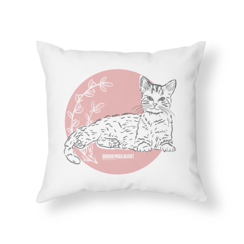 Pretty in Pink Home Throw Pillow by Austin Pets Alive's Artist Shop