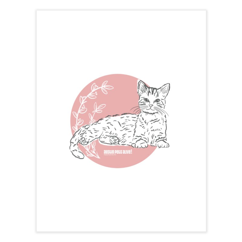 Pretty in Pink Home Fine Art Print by Austin Pets Alive's Artist Shop