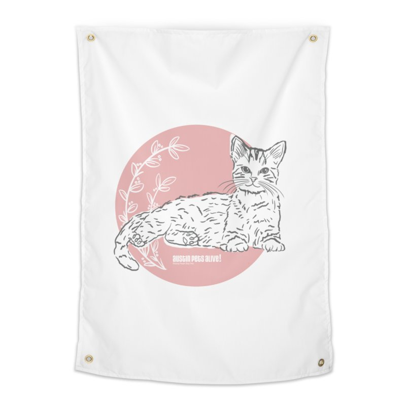 Pretty in Pink Home Tapestry by Austin Pets Alive's Artist Shop