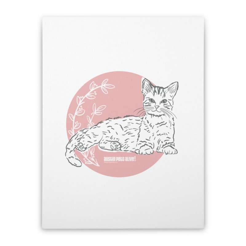 Pretty in Pink Home Stretched Canvas by Austin Pets Alive's Artist Shop