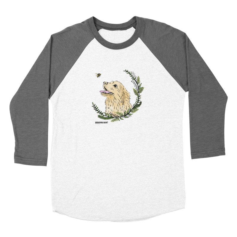 Dog Days Men's Baseball Triblend Longsleeve T-Shirt by Austin Pets Alive's Artist Shop
