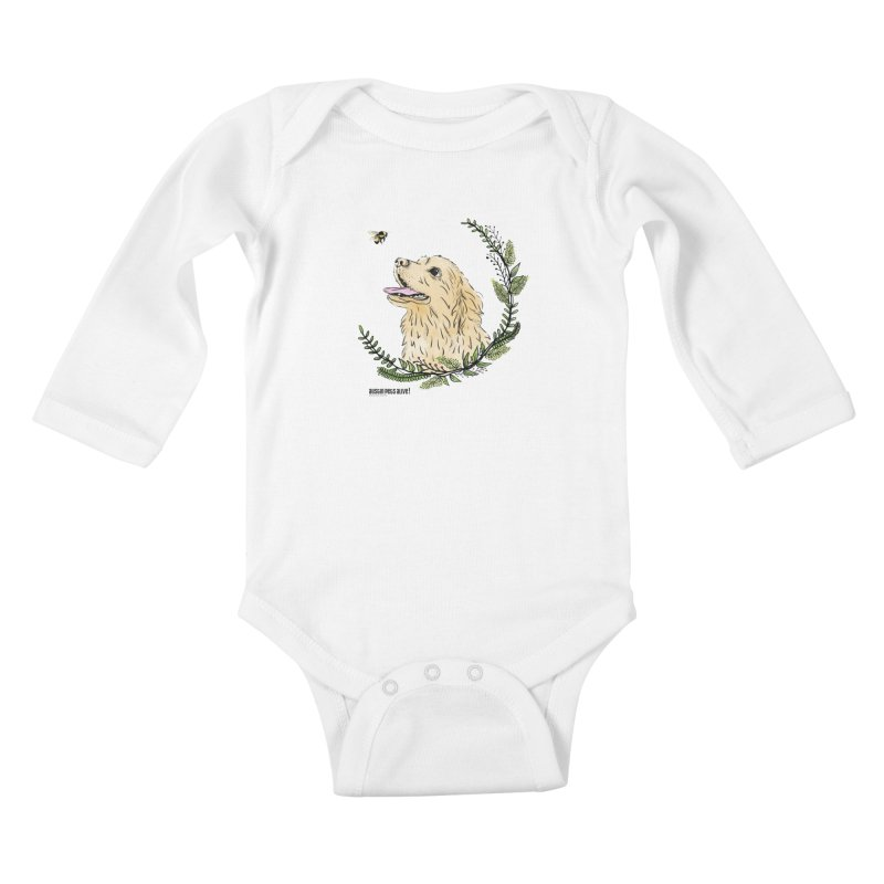 Dog Days Kids Baby Longsleeve Bodysuit by Austin Pets Alive's Artist Shop