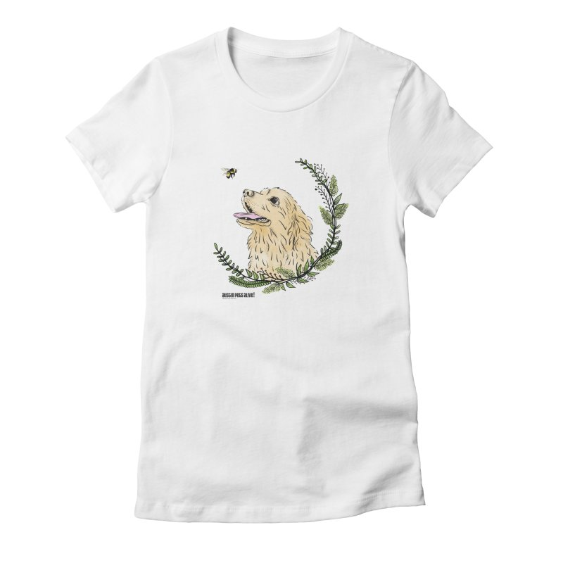 Dog Days Women's Fitted T-Shirt by Austin Pets Alive's Artist Shop