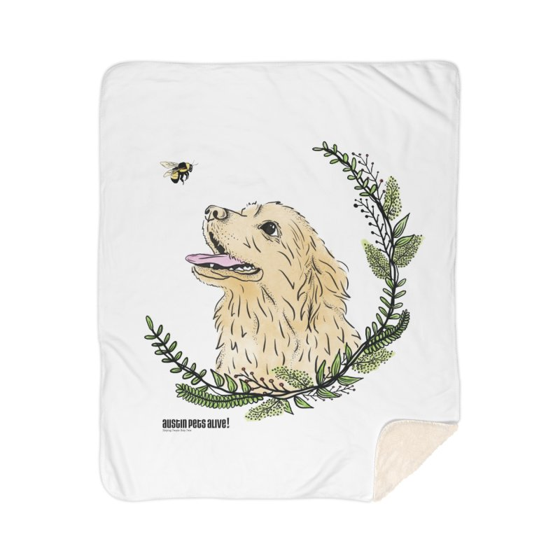 Dog Days Home Sherpa Blanket Blanket by Austin Pets Alive's Artist Shop