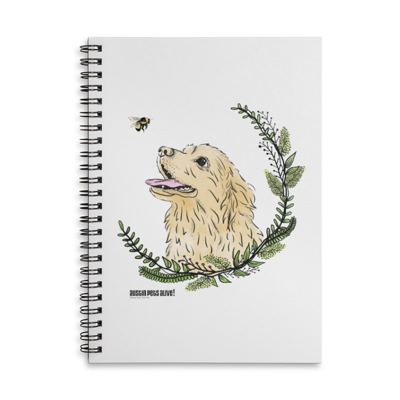 Dog Days Accessories Lined Spiral Notebook by Austin Pets Alive's Artist Shop