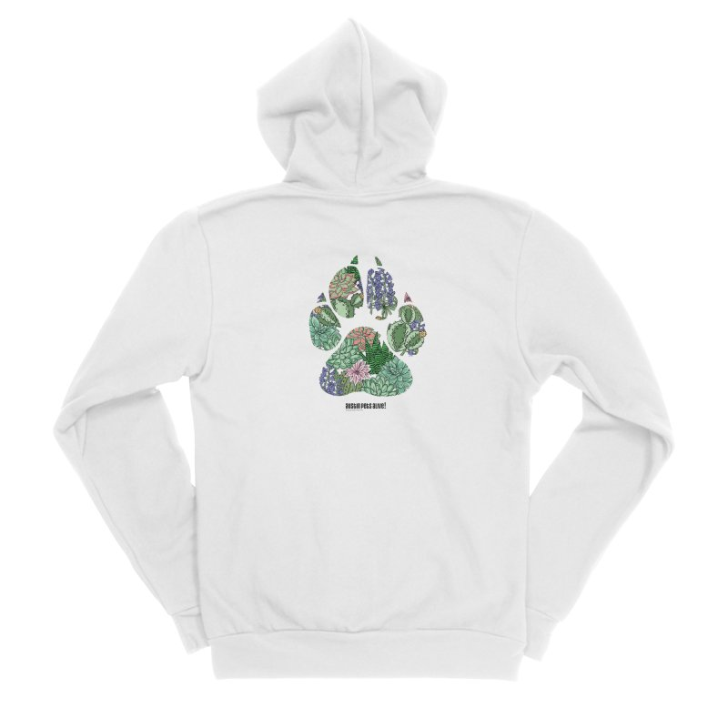 Flower Power Men's Sponge Fleece Zip-Up Hoody by Austin Pets Alive's Artist Shop