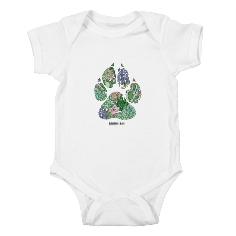 Flower Power Kids Baby Bodysuit by Austin Pets Alive's Artist Shop