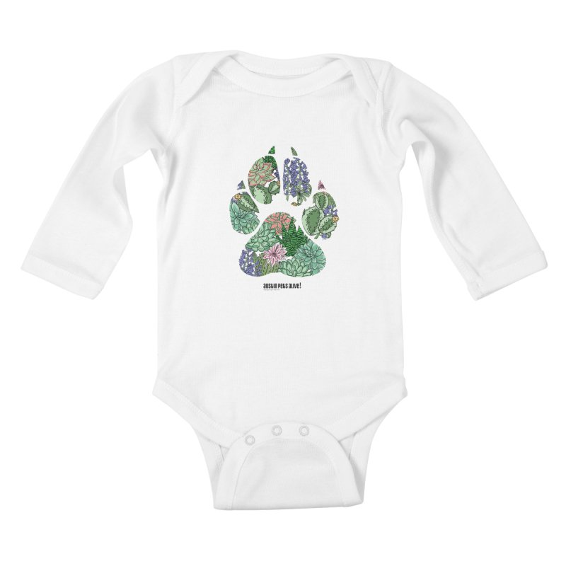 Flower Power Kids Baby Longsleeve Bodysuit by Austin Pets Alive's Artist Shop