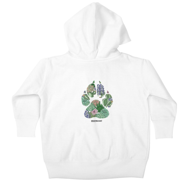 Flower Power Kids Baby Zip-Up Hoody by Austin Pets Alive's Artist Shop