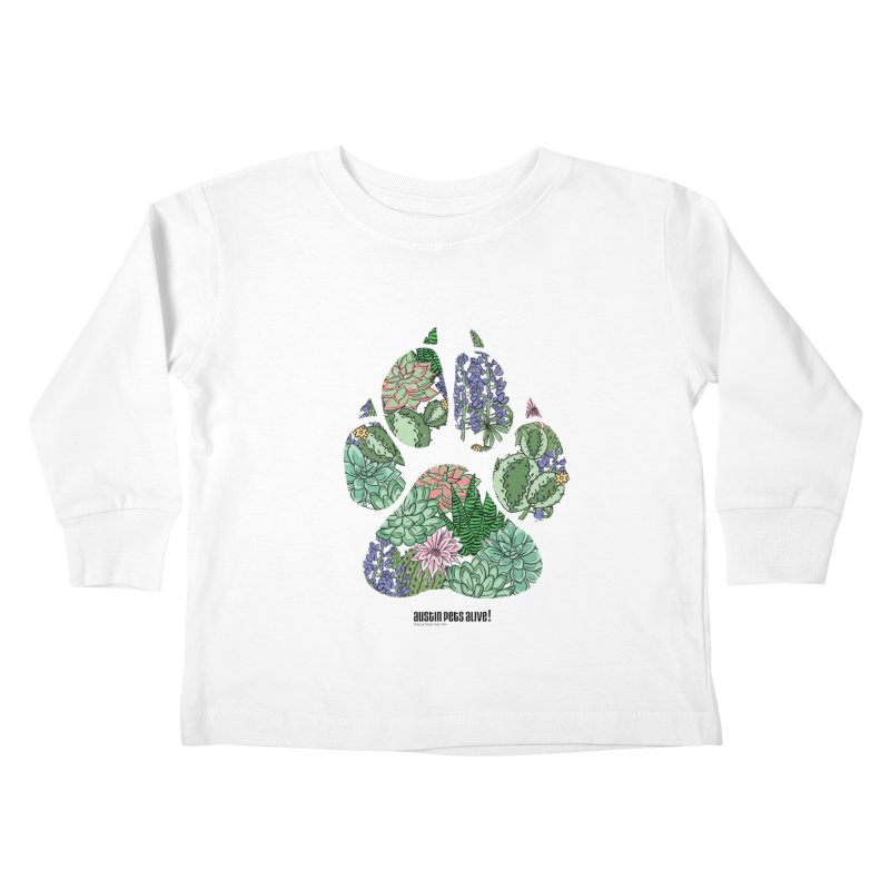 Flower Power Kids Toddler Longsleeve T-Shirt by Austin Pets Alive's Artist Shop