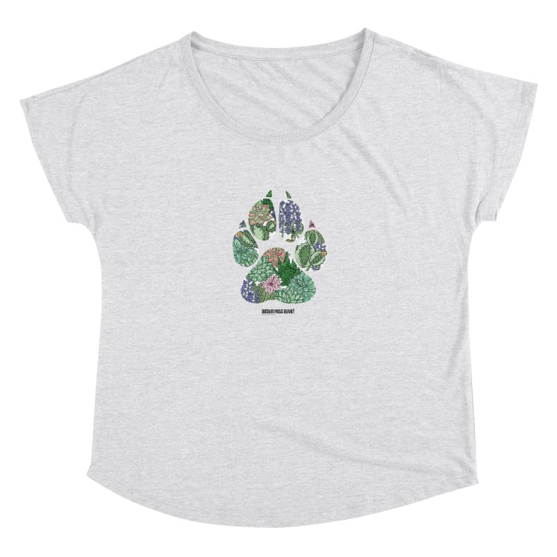 Flower Power Women's Dolman Scoop Neck by Austin Pets Alive's Artist Shop