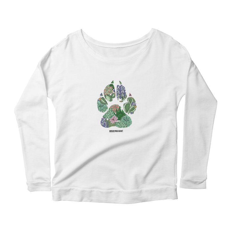 Flower Power Women's Scoop Neck Longsleeve T-Shirt by Austin Pets Alive's Artist Shop