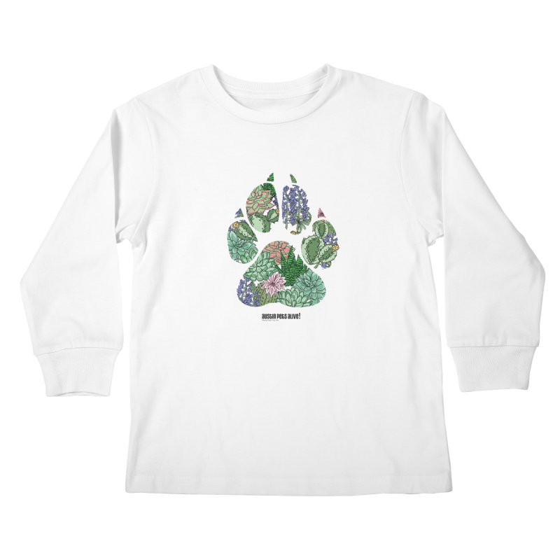 Flower Power Kids Longsleeve T-Shirt by Austin Pets Alive's Artist Shop
