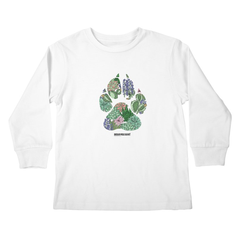 Flower Power Kids Longsleeve T-Shirt by Austin Pets Alive's Artist Shop