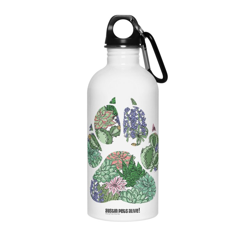 Flower Power Accessories Water Bottle by Austin Pets Alive's Artist Shop