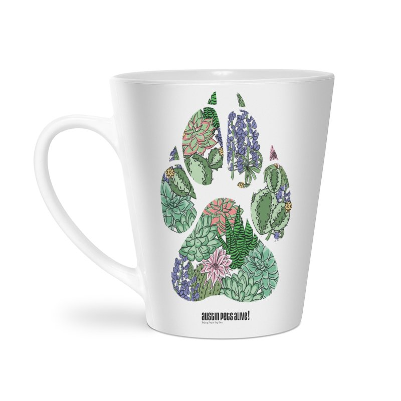 Flower Power Accessories Latte Mug by Austin Pets Alive's Artist Shop