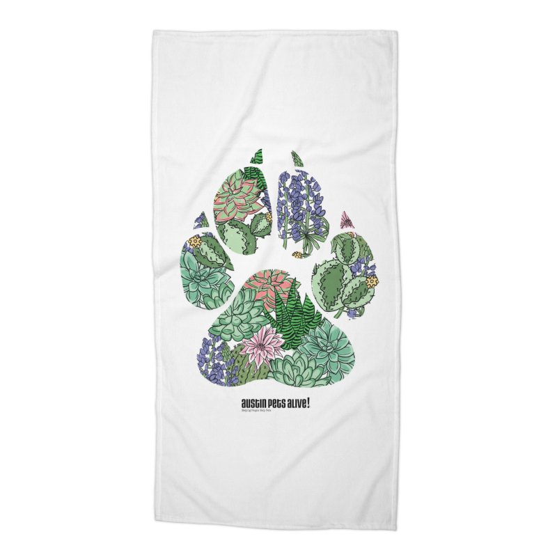 Flower Power Accessories Beach Towel by Austin Pets Alive's Artist Shop