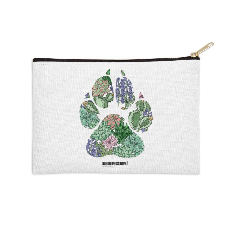Flower Power Accessories Zip Pouch by Austin Pets Alive's Artist Shop
