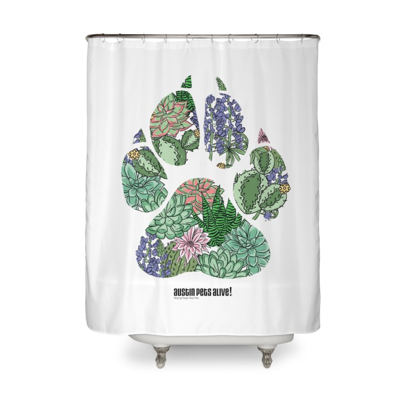 Flower Power Home Shower Curtain by Austin Pets Alive's Artist Shop