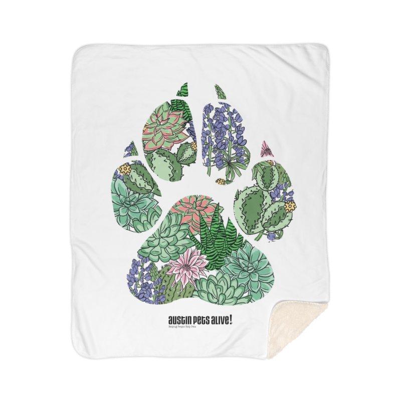 Flower Power Home Sherpa Blanket Blanket by Austin Pets Alive's Artist Shop