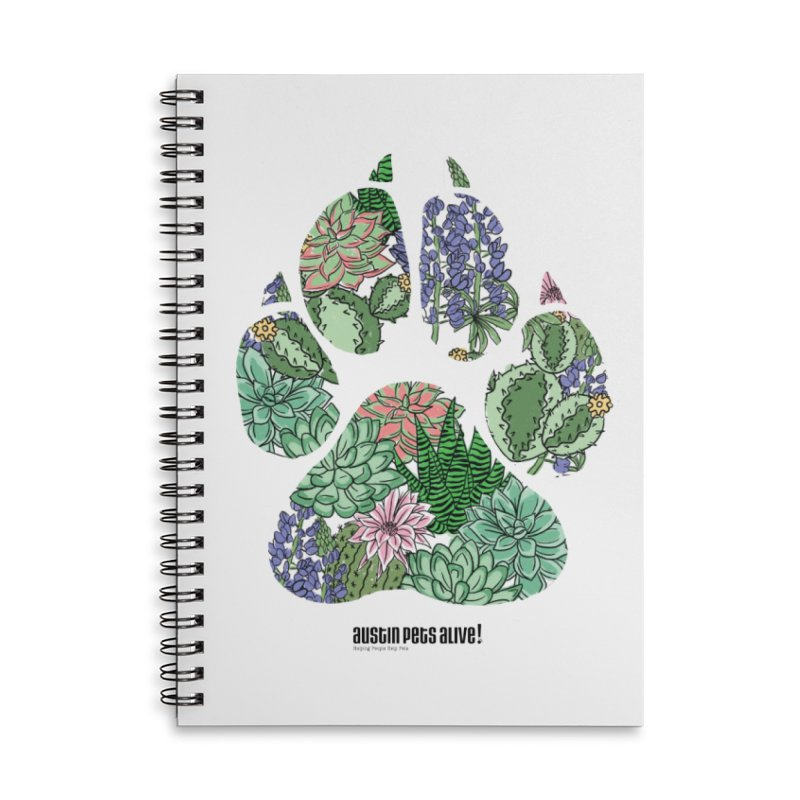 Flower Power Accessories Lined Spiral Notebook by Austin Pets Alive's Artist Shop