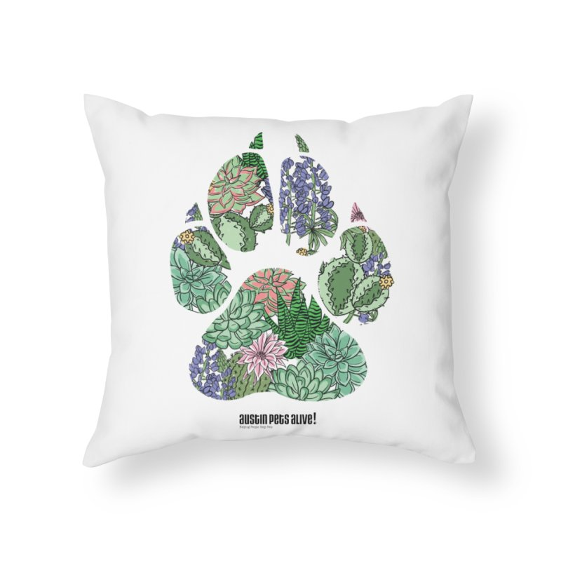 Flower Power Home Throw Pillow by Austin Pets Alive's Artist Shop