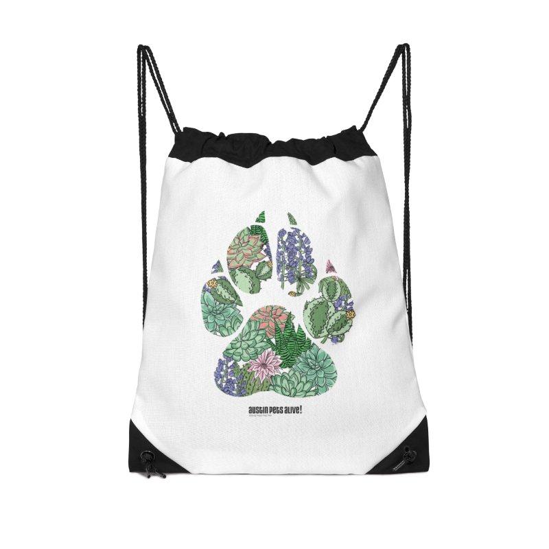 Flower Power Accessories Drawstring Bag Bag by Austin Pets Alive's Artist Shop