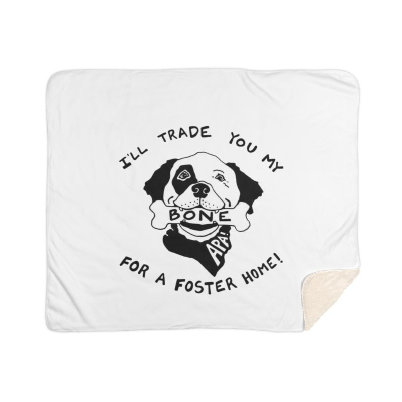 For the Love of Fostering Home Sherpa Blanket Blanket by Austin Pets Alive's Artist Shop
