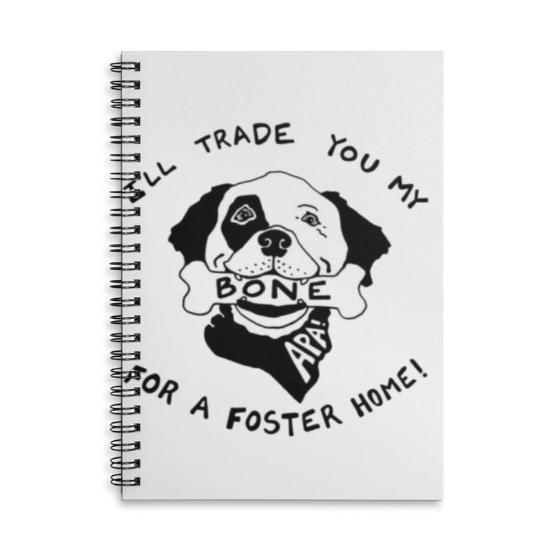 For the Love of Fostering Accessories Lined Spiral Notebook by Austin Pets Alive's Artist Shop