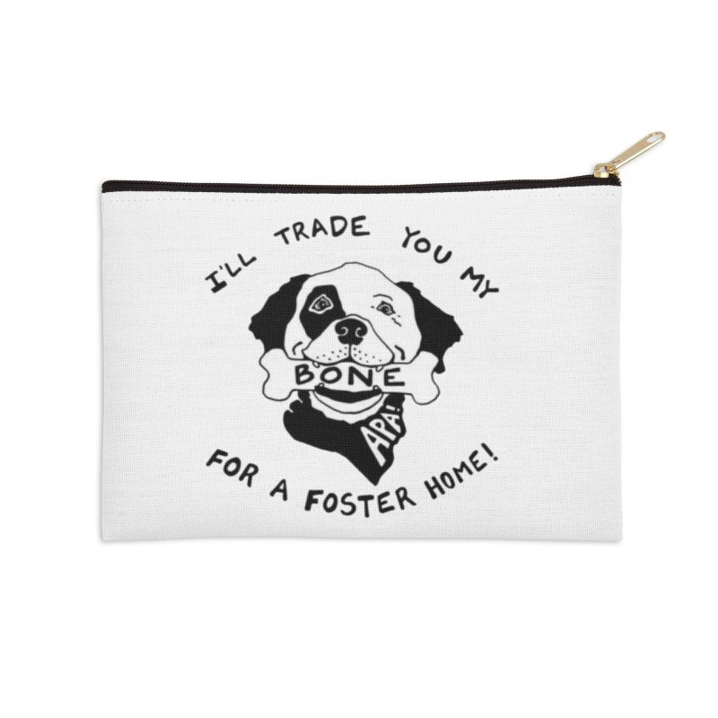 For the Love of Fostering Accessories Zip Pouch by Austin Pets Alive's Artist Shop